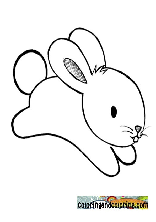 Free Coloring Pages Of Cartoon Rabbit