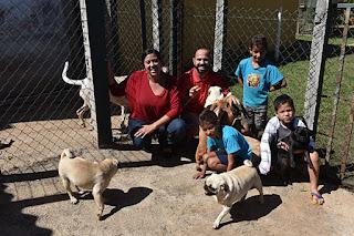 Roselani e Carlos mantêm 14 cachorros em casa: gasto de R$ 700 mensais com ração e muitas alegrias