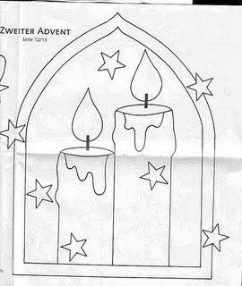 desenho de velas de natal