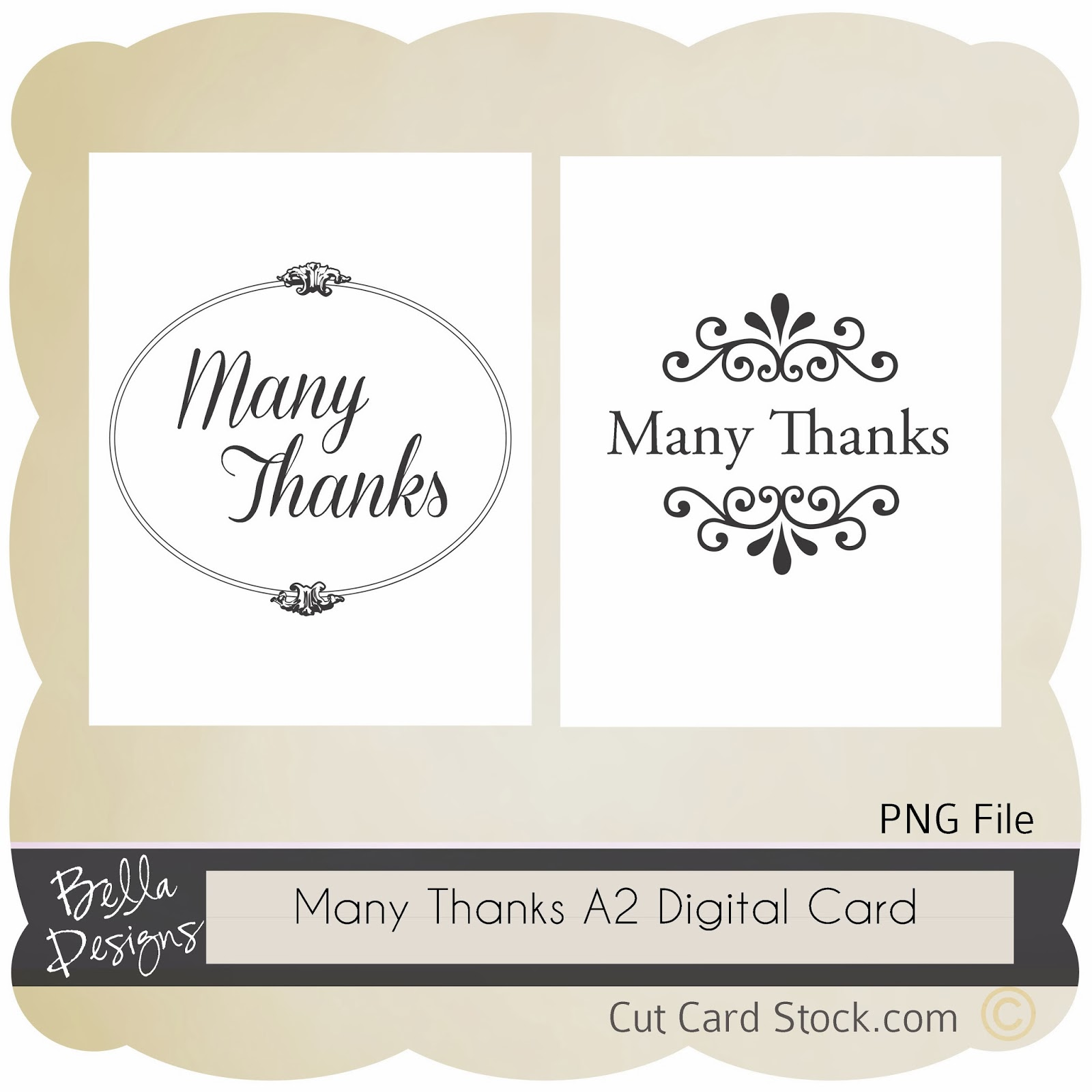 Free Digital Download Many Thanks Digital Cards Cutcardstock