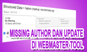 Missing Author Dan Update Di Webmaster Tool