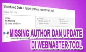 Kini Missing Author Dan Update Bisa Dicek Di Webmaster Tool