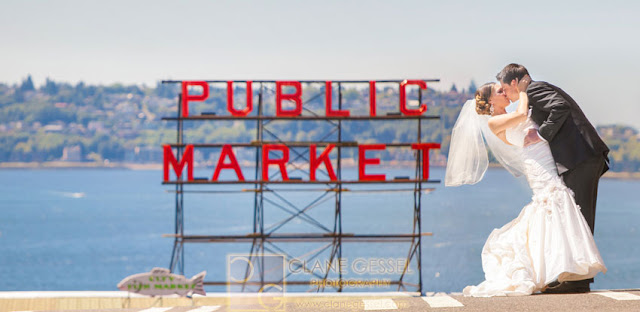 Pike Place public market seattle wedding