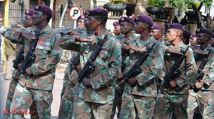 Бойцы разведывательной группы «Recces» ЮАР