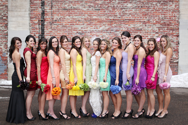 Raimbow Bridesmaid Dresses