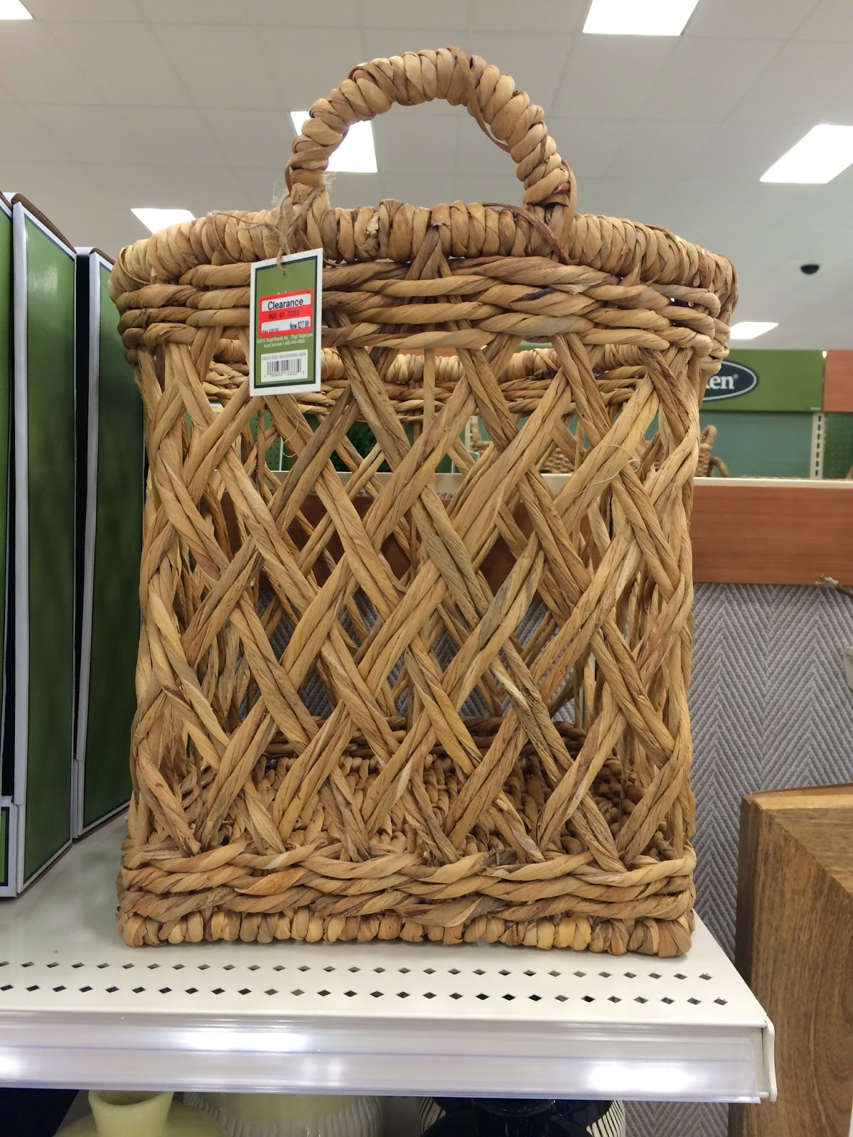 Some Friends Of Ours Have This Awesome Woven Basket With Painted Top In Their Gorgeous Home And I Had No Idea It Was From Target