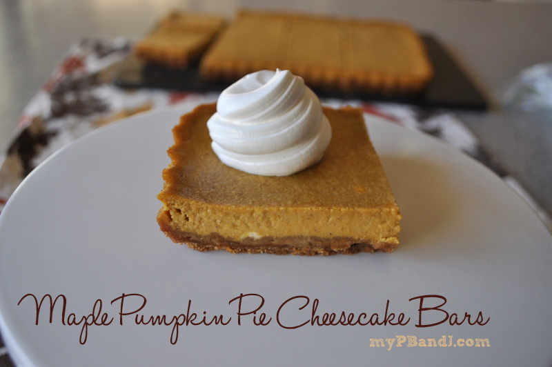 Our Reflection: Maple Pumpkin Pie Cheesecake Bars