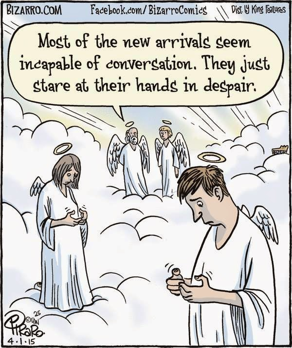 angels, heaven, two people lost without there cell phones because of texting withdrawals