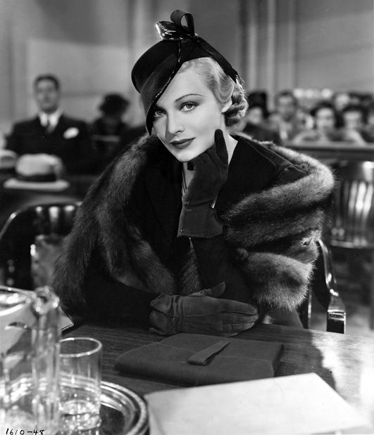 The Case Against Mrs. Ames,1936 ~ Madeleine Carroll #1930s #fashion #vintage #fur #gloves