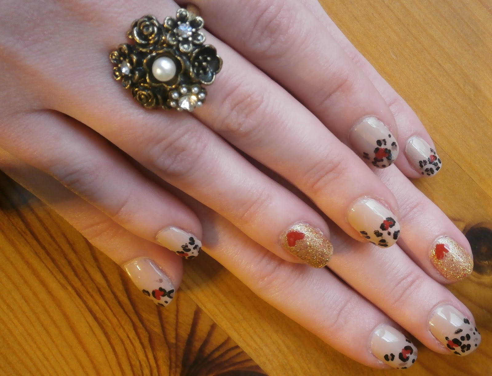 Valentines Day Nail Art Tutorial Leopard Print Hearts Every