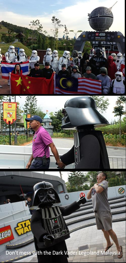 legoland malaysia -dark vader