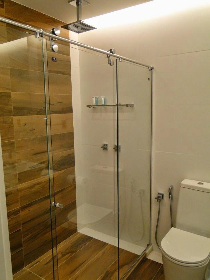 Construindo Minha Casa Clean 13 Banheiros com Piso de Madeira! -> Banheiros Decorados Pisos