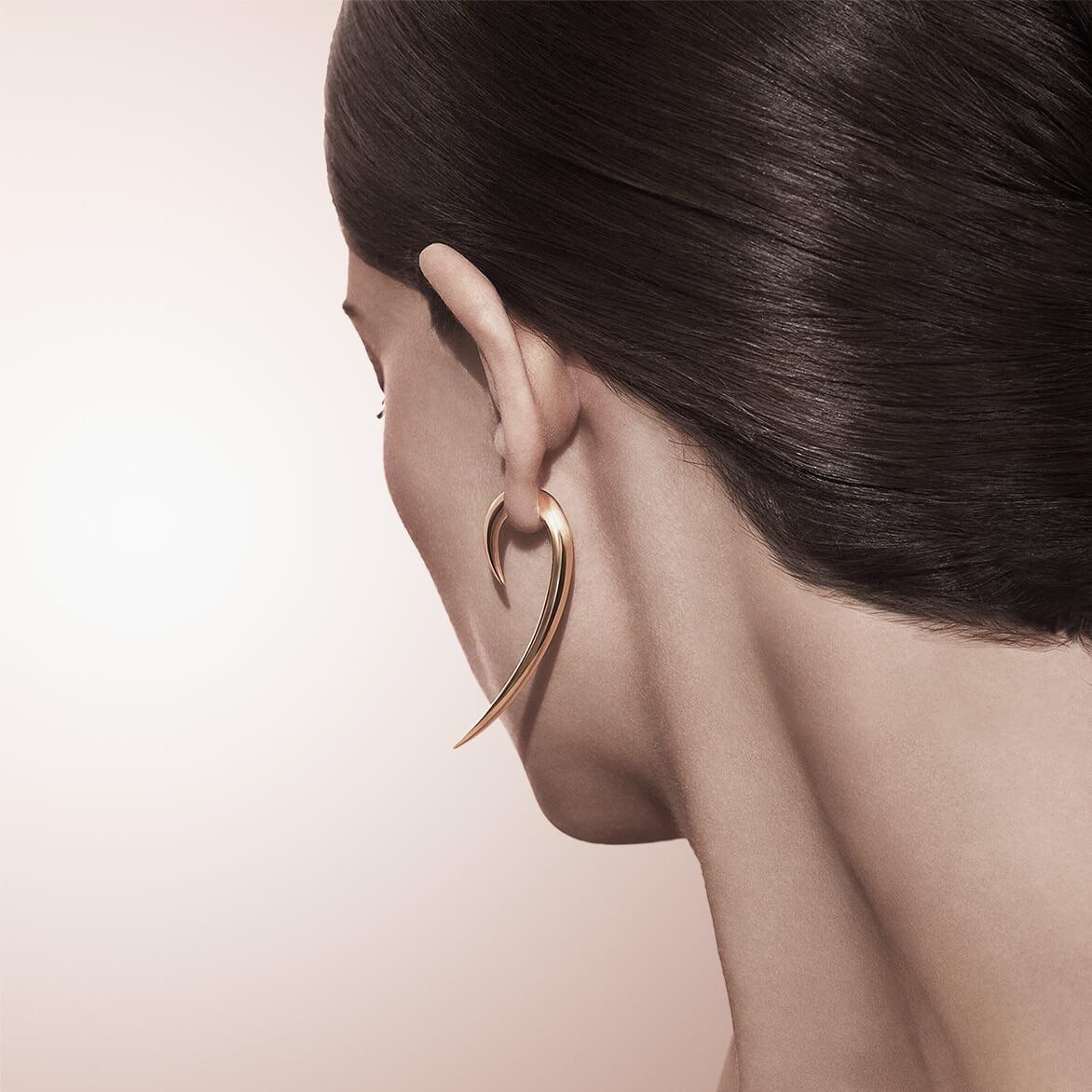Shaun Leane 18ct Gold Vermeil Hook Earrings