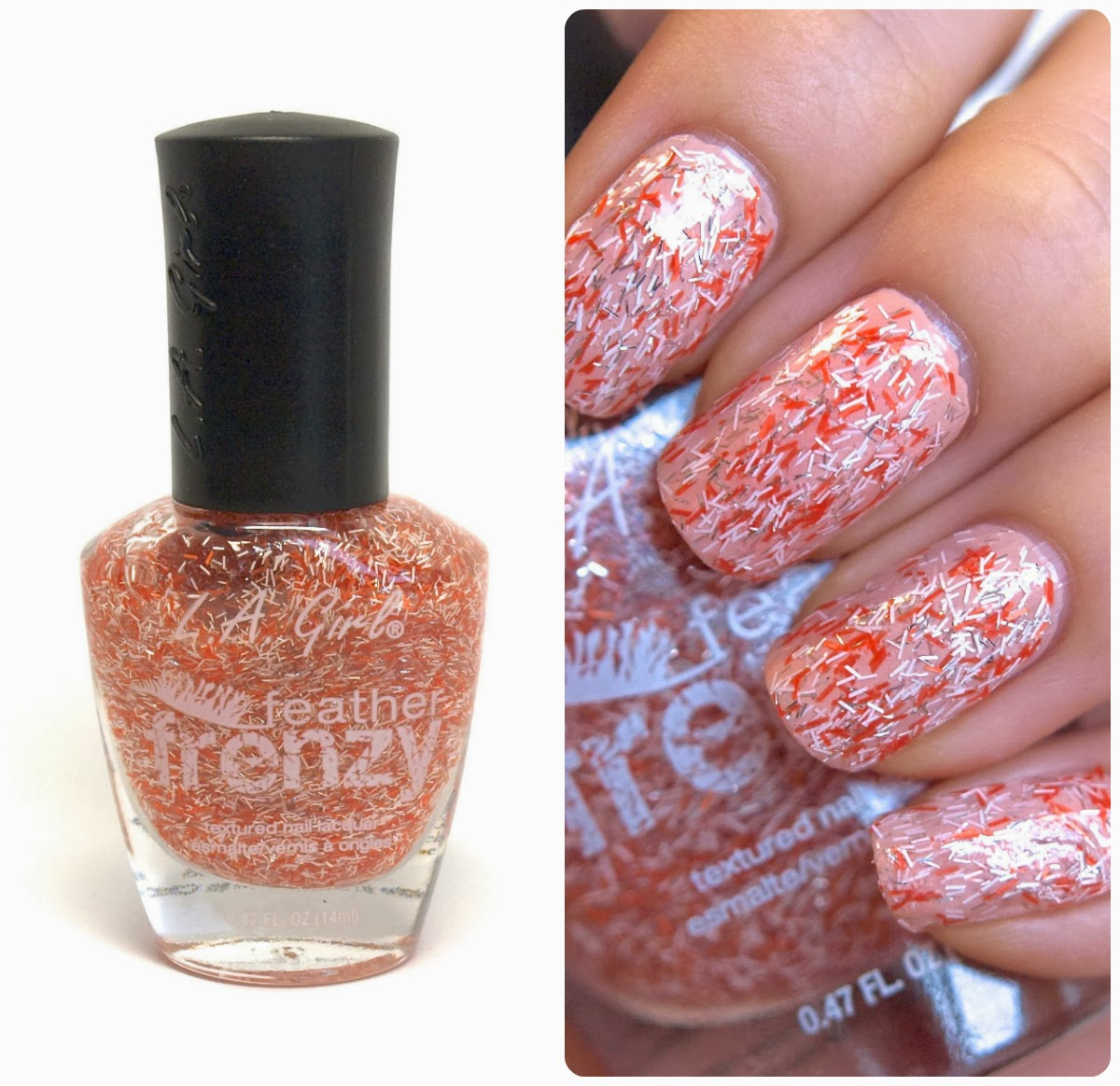 First Up Is An Orange White And Silver Bar Glitter Nail Polish Called Oriole 5 00 Named After The Charming Little Birds Base Transpa