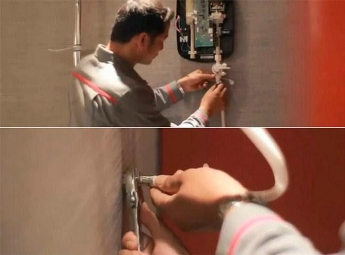 cách lắp bình nóng lạnh trực tiếp
