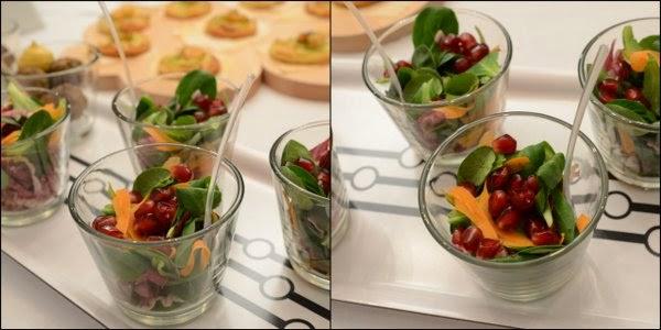 siebaecktgern 60ziger Catering Feldsalat mit Möhren und Granatapfel
