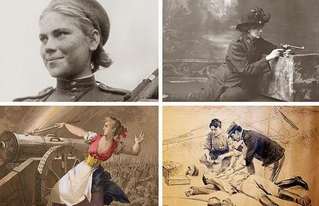 Mujeres héroes de guerra