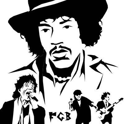 Desenhos de bandas de rock