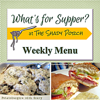 What's For Supper: Menu  October 5, 2014