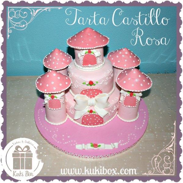KukiBox - tarta Castillo Princesas Rosa