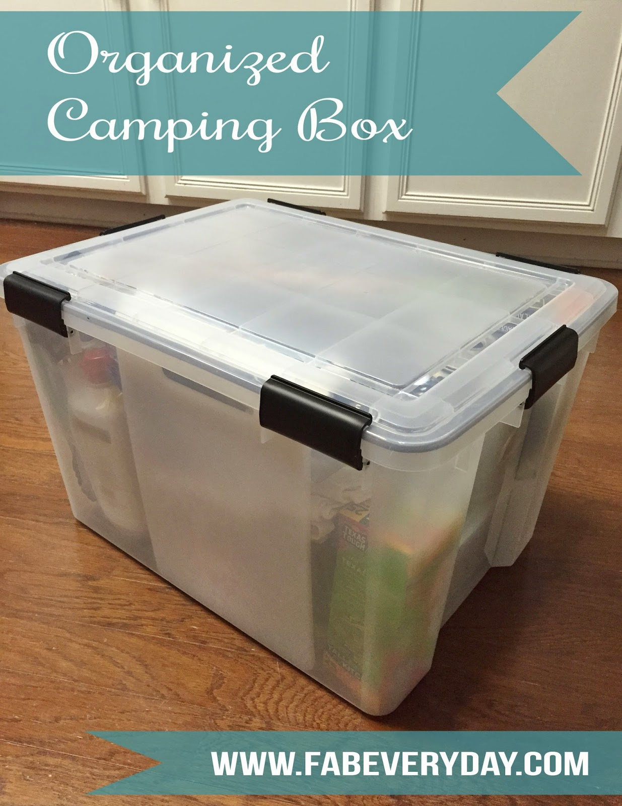 Travel Tuesday Organized Camping Supply Box