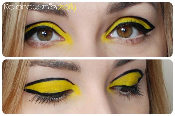 makijaż graficzny żółty