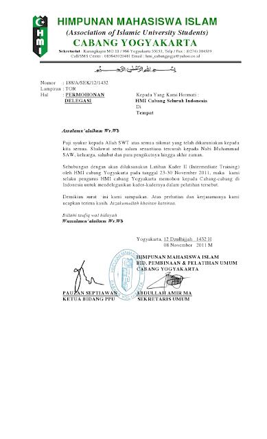 Contoh Surat Audiensi Hmi