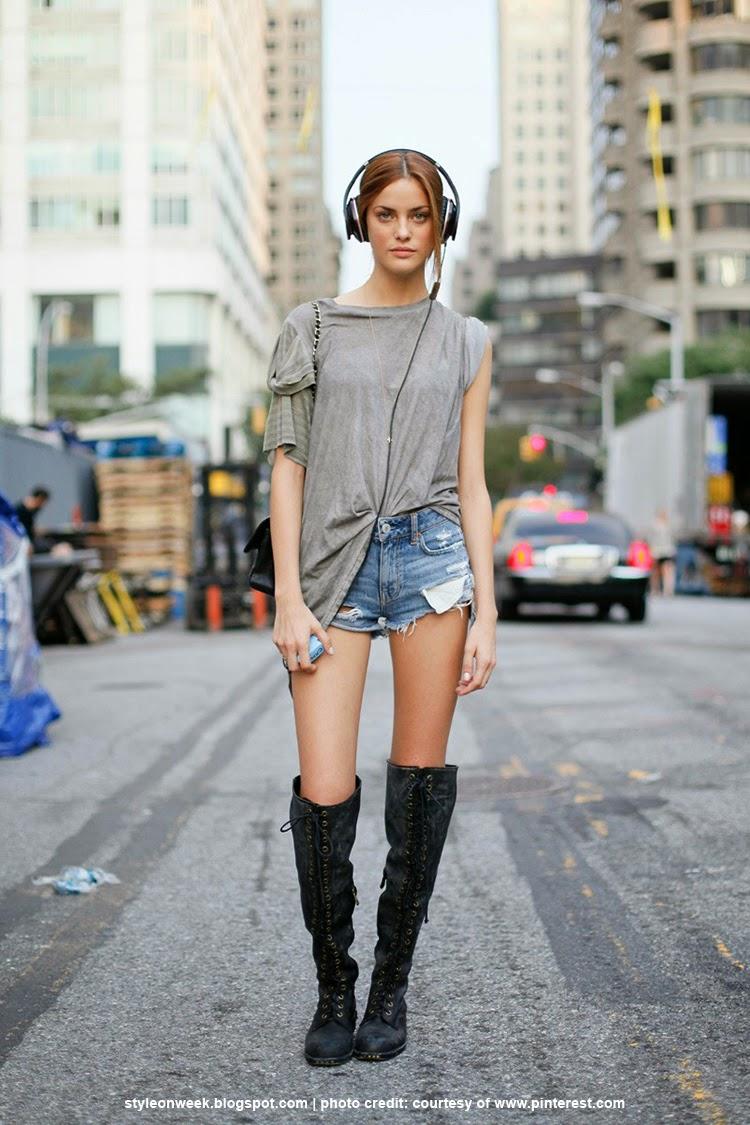 Denim Short Street Style Inspiration - Alejandra Alonso Vintage Levis Shorts