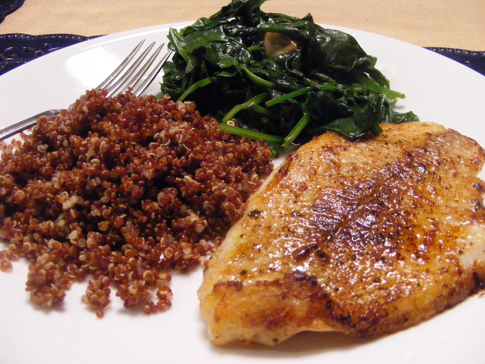 Make your someday today pan fried fish with spinach and for Carbs in fried fish