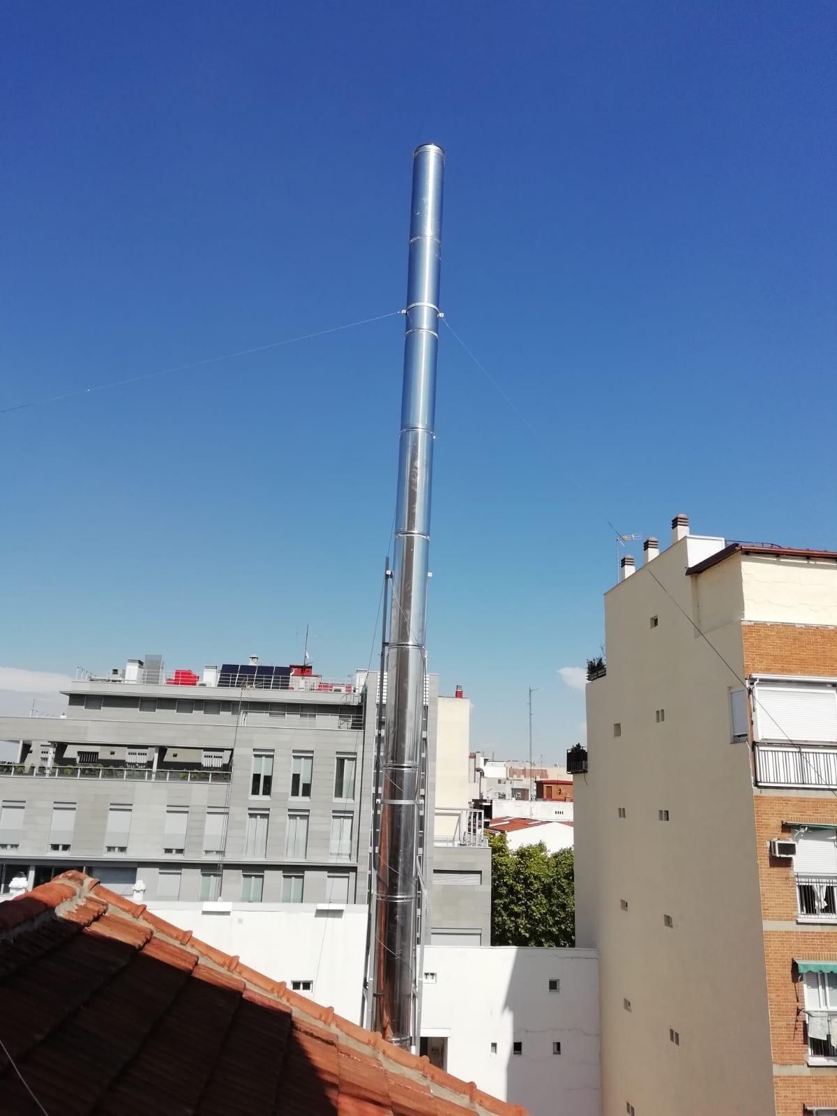 Alargar tubos de chimeneas