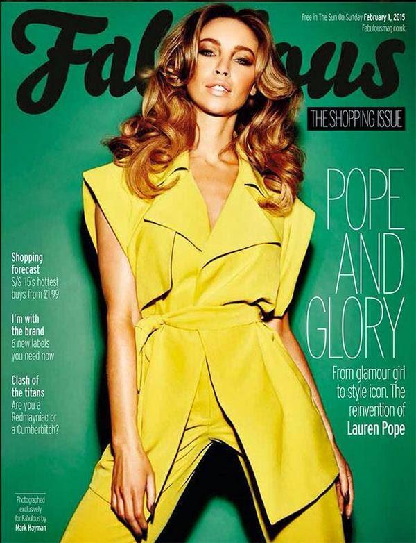 Lauren Pope for Fabulous Magazine UK February 2015