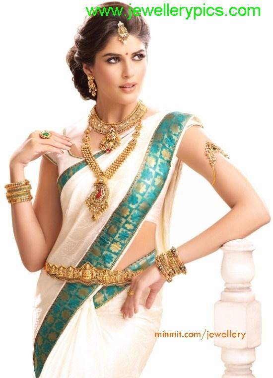 Model With Gundla Haram And Big Mango Pendent Latest