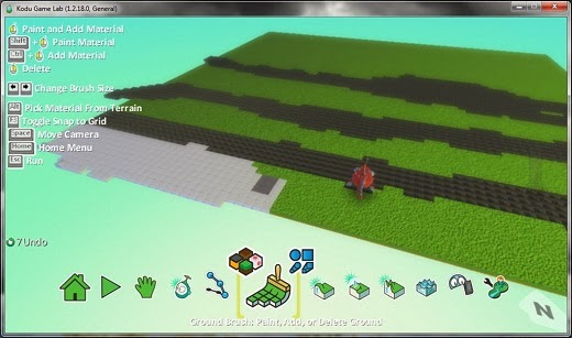 Kodu screenshot Interface Membuat 3D Game Tanpa Coding Dengan Kodu Game Labs