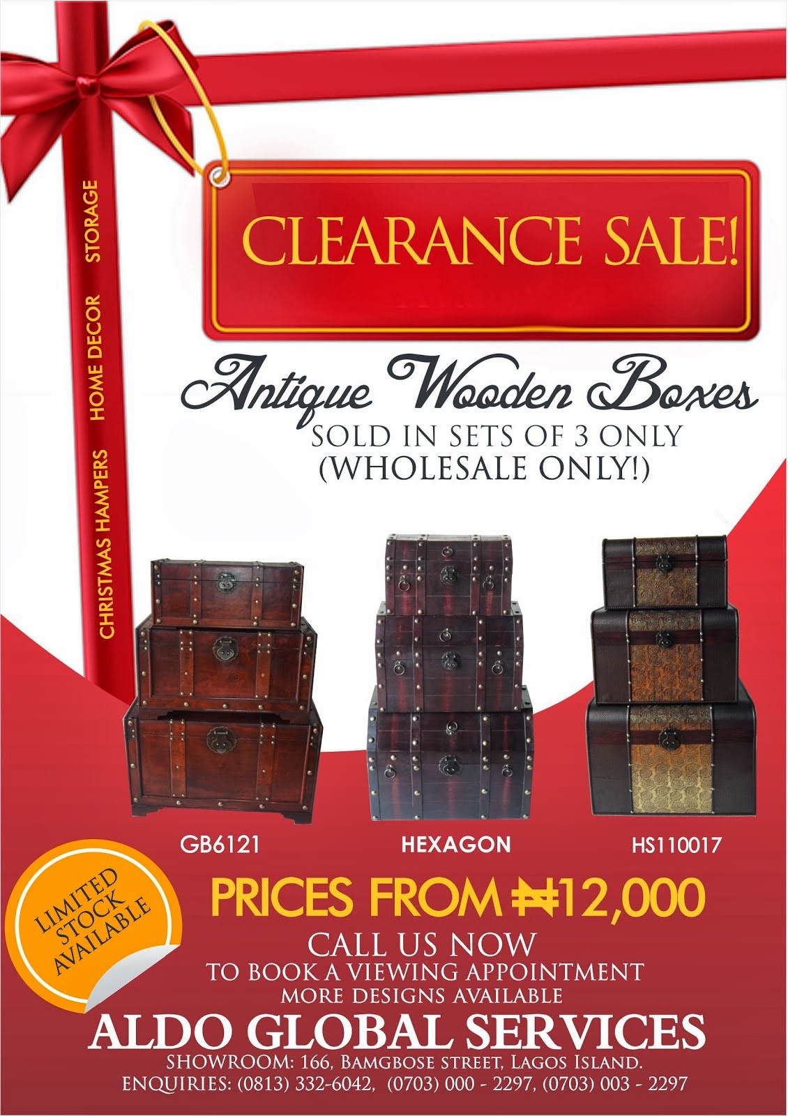 CLEARANCE SALES ON ANTIQUE WOODEN BOXES