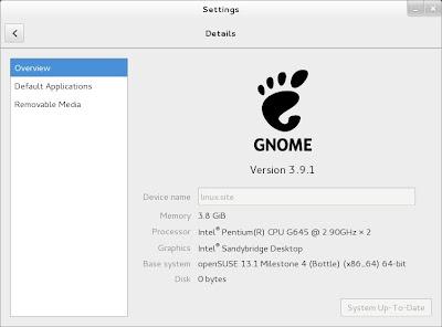 openSUSE 13.1 Milestone 4, GNOME live ISO Details