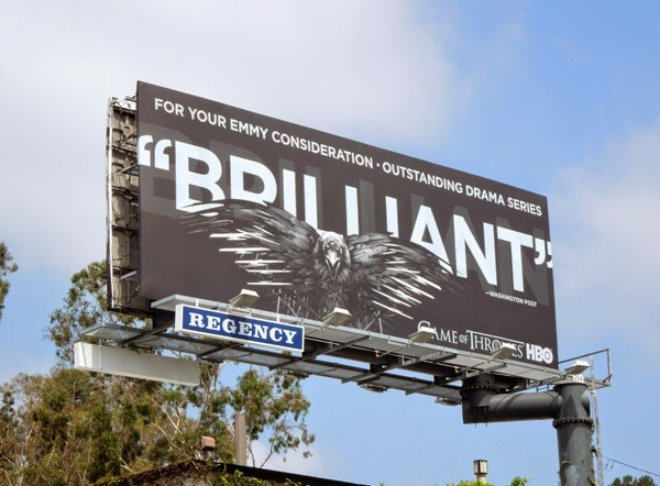 Game of Thrones Brilliant 2014 Emmy billboard