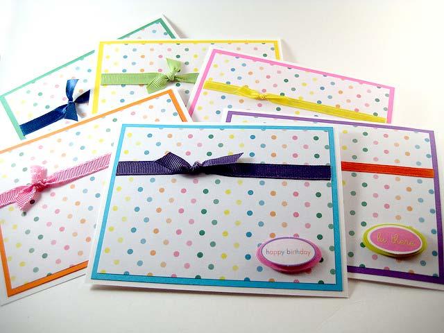 cute cards polka dot
