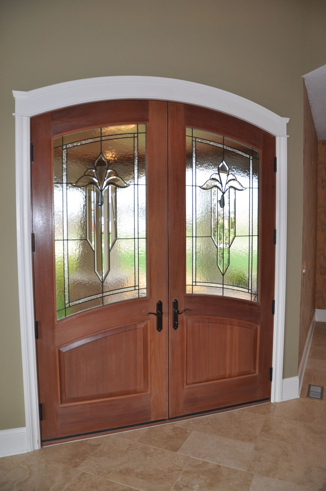 My home tour evolution of style for Double front entry doors