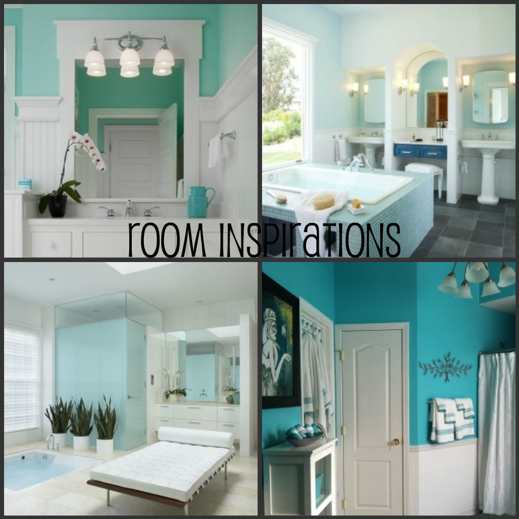 Turquoise bathroom for Turquoise and brown bathroom decor