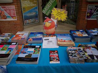 Muestrario de catálogos de Viatges Toyolba