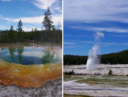 Hot springs and Geysers Yellowstone