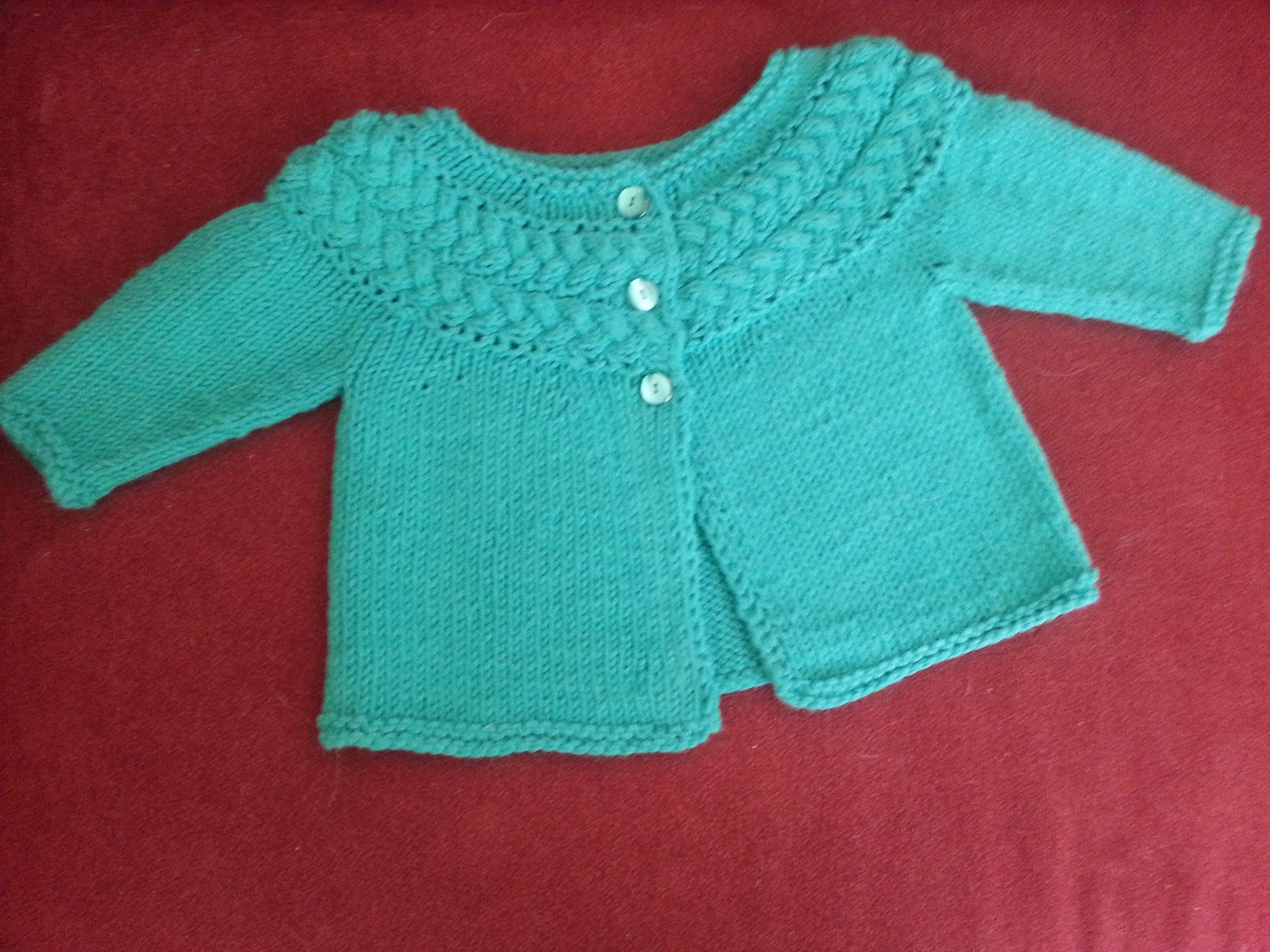 Modern Crafter: Sideways Cable Yoke Baby Sweater