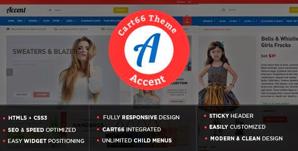 Best Responsive WordPress Theme for Cart66