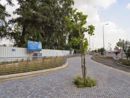 Ramla biofilter integrated as part of the street