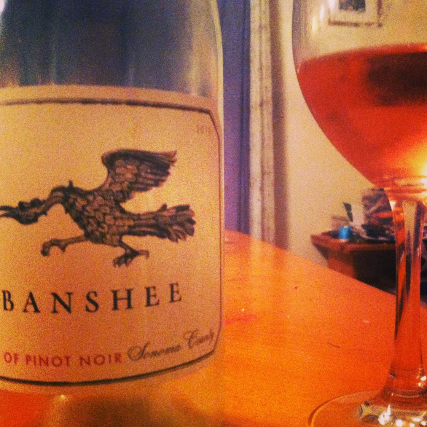 Banshee Rosé of Pinot Noir from Sonoma. Refreshing with Cooking Chat's Grilled Swordfish!