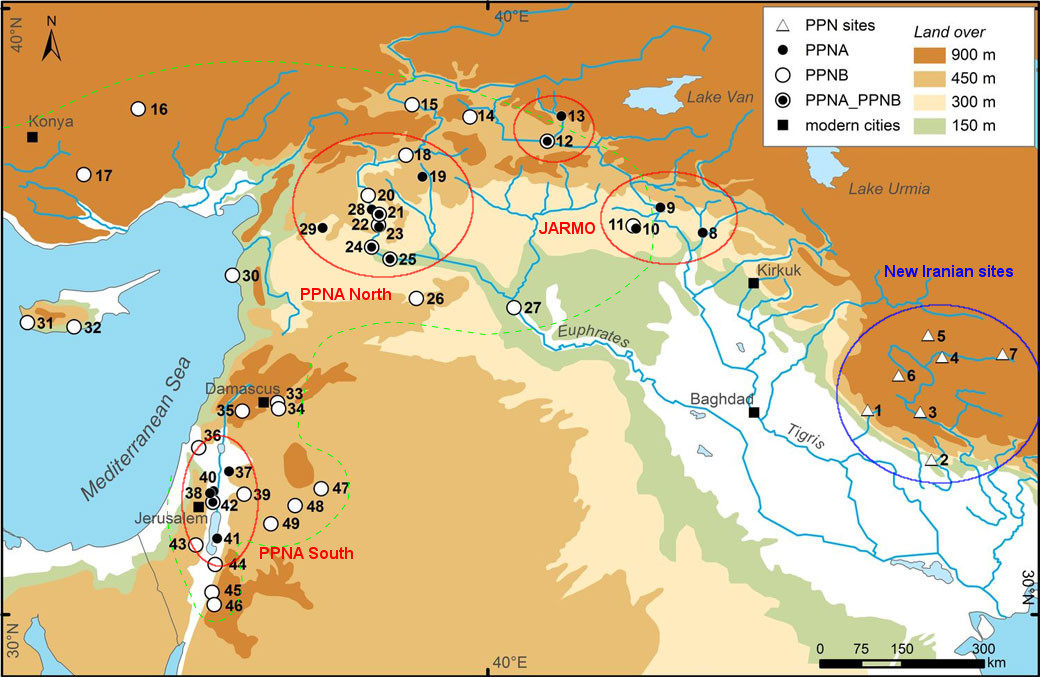 Neolithic Revolution Map For what they were... ...