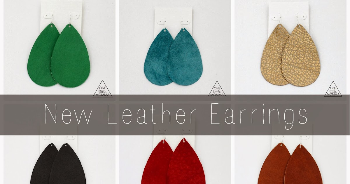 Shop Update- New Leather Earrings and Cuffs