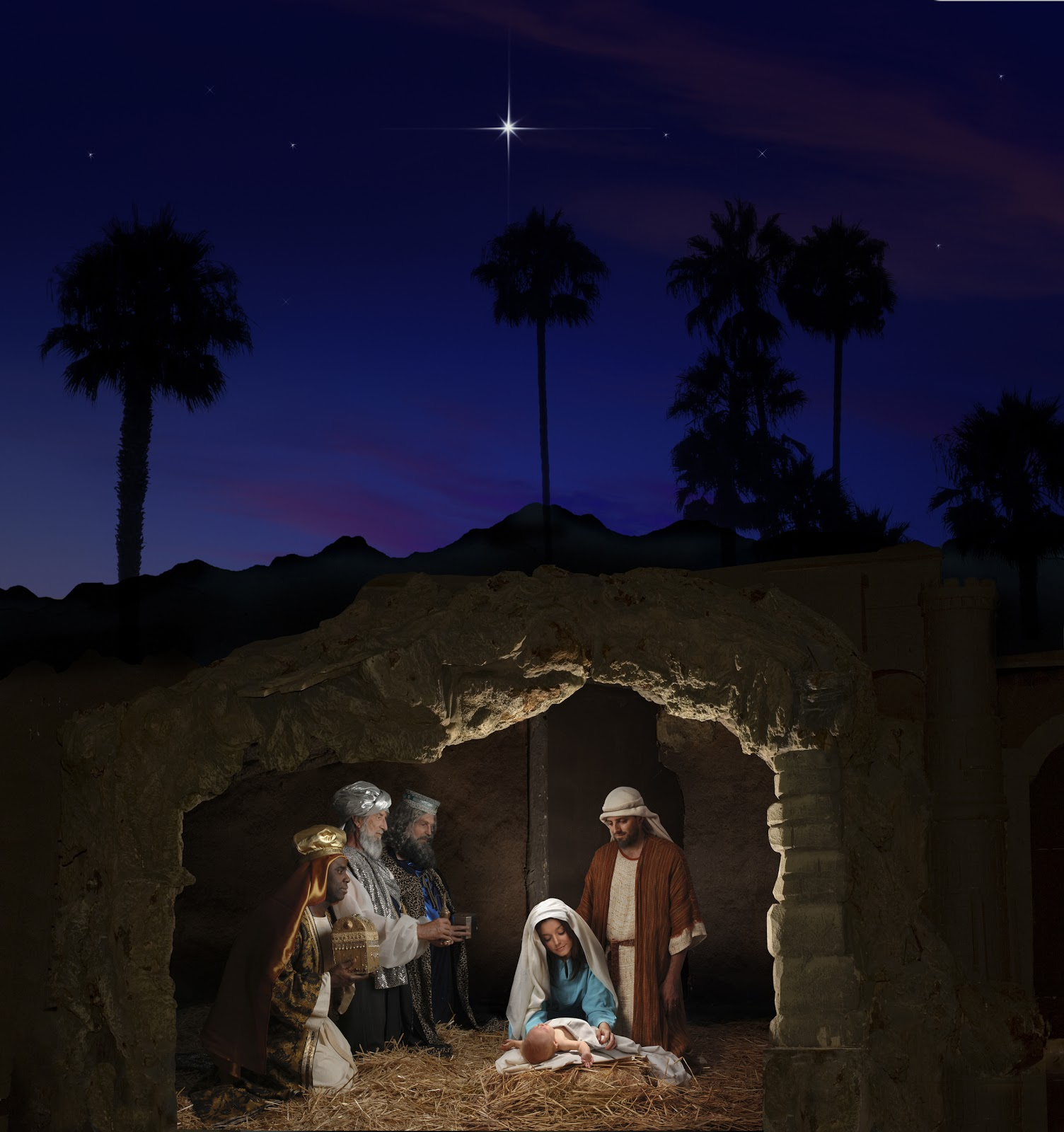 Free Clipart Black And White Nativity