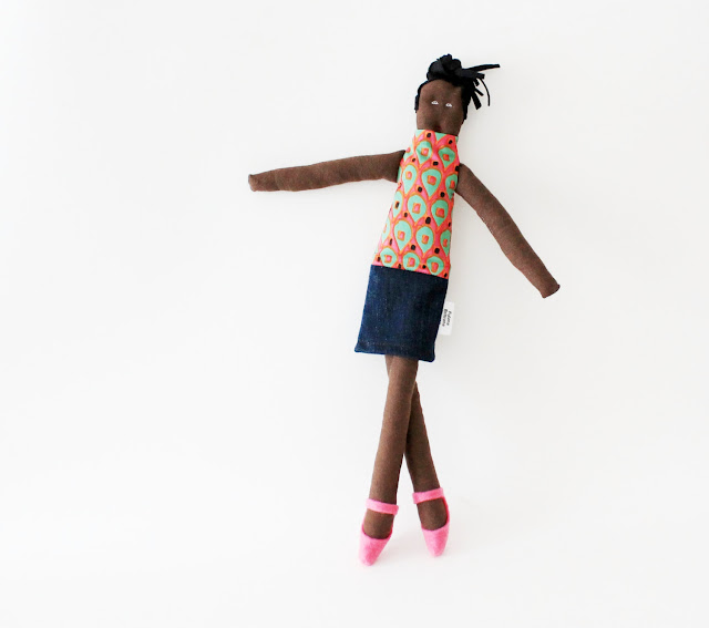 African fabric doll Fulana ooak by Fulana, Beltrana e Sicrana