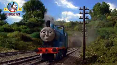 Sodor steam engine Edward the great railway blue train is the same color as Thomas the tank engine